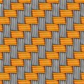 Free Woven Gold And Silver. Seamless Texture. Stock Images - 30482214