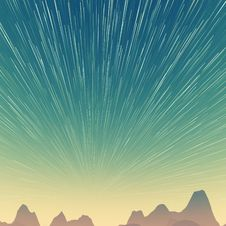 Free Star Trails And Far Rocks Stock Images - 30481434