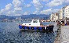 Boat In Izmir &x28;Alsancak&x29; Stock Photography