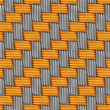 Woven Gold And Silver. Seamless Texture. Stock Images
