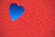 Free Red Card With Heart Shape Royalty Free Stock Photo - 30484105