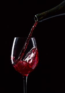Free Bottle And Glass With Red Wine Stock Photos - 30485063