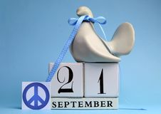 Free Calendar Date For September 21, International Day Of Peace, World Peace Day. Royalty Free Stock Images - 30489939