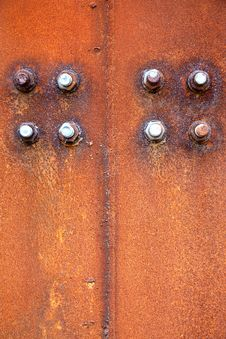 Free Rusty Steel Plate And Screw Stock Image - 30491491