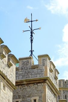Castle Weather Vane Royalty Free Stock Photography