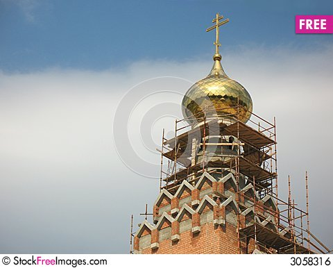 Free Construction Of The Church Royalty Free Stock Image - 3058316