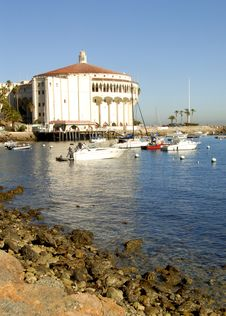 Free Casino Building On Catalina Is Royalty Free Stock Photography - 3050057