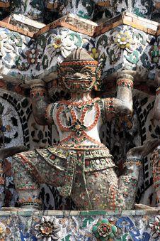 Thailand Wat Arun Sculpture Stock Image