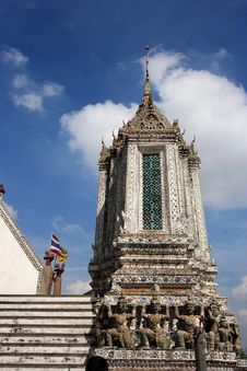Thailand Wat Arun Sculpture Royalty Free Stock Photography