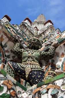 Thailand Wat Arun Sculpture Royalty Free Stock Image