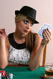 Free Ladies Poker Night Stock Photography - 3050402