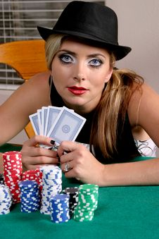 Woman Gambler Royalty Free Stock Photo