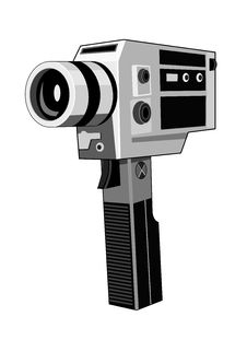 Vintage Camcorder Stock Photography