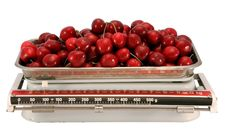 Free The Cherry And Scales. Stock Photo - 3052170