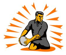 Free Rugby Player Passing The Ball Stock Photos - 3052323