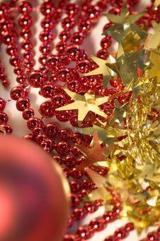 Christmas Decoration - Garland Stock Image