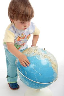 Free Globe Boy Stock Images - 3052884
