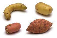 Free Potatoes On White Background Royalty Free Stock Photos - 3053348