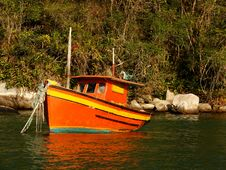 Free Anchored Boat 6 Stock Photo - 3053760