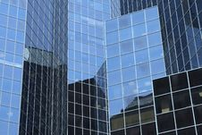 Reflections In Office Building Royalty Free Stock Photo