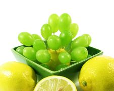 Free Grapes Fruit And Lemons Royalty Free Stock Images - 3055069