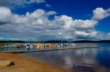 Free Summer Beach At Lakeside Royalty Free Stock Photography - 3055647