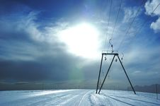 Free Ski-lift Slope Royalty Free Stock Photos - 3055828