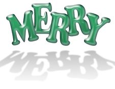 Jelly MERRY Letters Stock Images