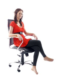 Free Satisfied Businesswoman Royalty Free Stock Photo - 3056965