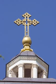 Free Cross Under The Blue Sky Stock Photography - 3057022