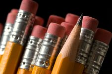 Free Yellow Pencils Royalty Free Stock Photo - 3057045