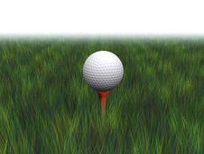 Free Golf Ball On A Tee Stock Photos - 3057073