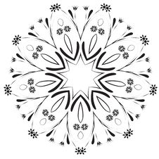 Free Abstract Vector Floral Design Royalty Free Stock Images - 3057419