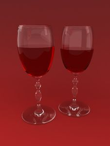 Free Two Wine Glasses Stock Photography - 3057782