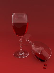 Free Two Wine Glasses Stock Image - 3057851