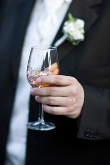 Free Groom Holding A Glass Stock Images - 3058054