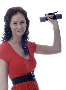 Free Pretty Girl Working Out Royalty Free Stock Image - 3058156