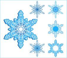 Free Vector Snowflakes Stock Image - 3058301