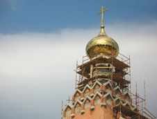 Construction Of The Church Royalty Free Stock Image