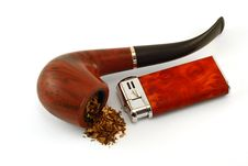 Free The Tobacco-pipe And Lighter2 Royalty Free Stock Photos - 3058388