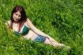 Free Sexy Attractive Young Woman In Green Bikini Stock Photos - 30506303