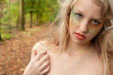 Free Teen In The Forest Stock Images - 30501484