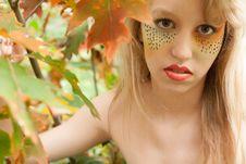 Free Happy Leaf Girl Stock Photo - 30501490