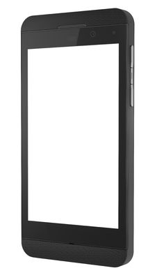 Free New Black Smart Phone With Blank Screen. Stock Photo - 30502450