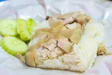 Free Hainanese Chicken Rice Royalty Free Stock Photos - 30502528