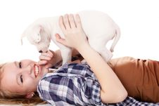 Free Having Fun With My Puppiy Royalty Free Stock Photos - 30502838