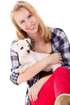 Free Smiling With My Puppy Stock Images - 30502854