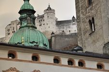 Free Salzburg, Austria. Baroque Architecture And Castle. Royalty Free Stock Images - 30503099