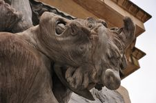 Free Baroque Sculpture Detail: The Devil Stock Photos - 30503103