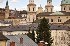 Free Baroque Architecture. Salzburg Cityscape, Austria. Royalty Free Stock Image - 30503166